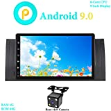 XISEDO 9' Android 9.0 Autoradio In-dash Car Radio 6-Core RAM 4G ROM 64G Car Stereo per BMW 5-E39/BMW X5-E53 (con Fotocamera Posteriore)