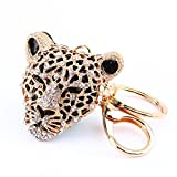 Strass Leopard Keychain, Charm Anhänger Handtasche Tasche Schlüsselanhänger Kette Dekoration