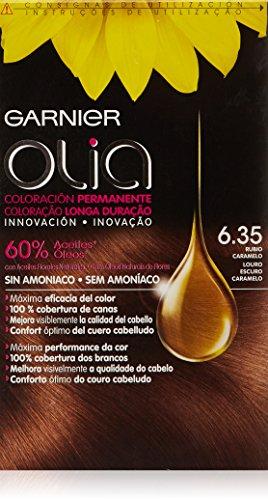 Garnier Olia Coloración Permanente sin Amoniaco, Tono: nº6.35 Rubio Caramelo - [paquete de 2]