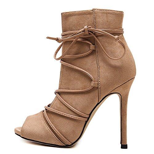 Shoemaker's heart calzature europea coreano molla bene con la bocca del pesce Amoi High-Heeled sandali scarponi per alta moda Thirty-eight