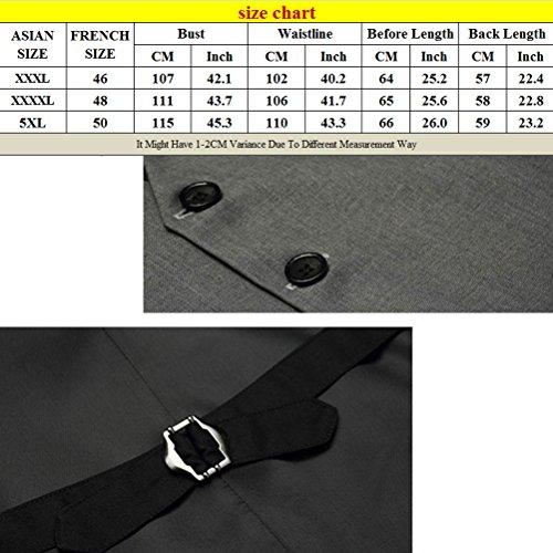 Zhhlinyuan haute qualité Mens Slim Fit Suit Vest Sleeveless Jacket Waistcoat Top Designed Fashionable gray