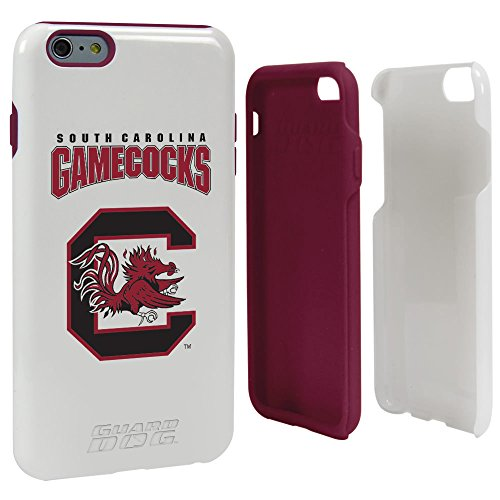 NCAA South Carolina Fighting Gamecocks Hybrid-Schutzhülle für iPhone 6 Plus, Weiß, One - Iphone 6 Armor Otterbox