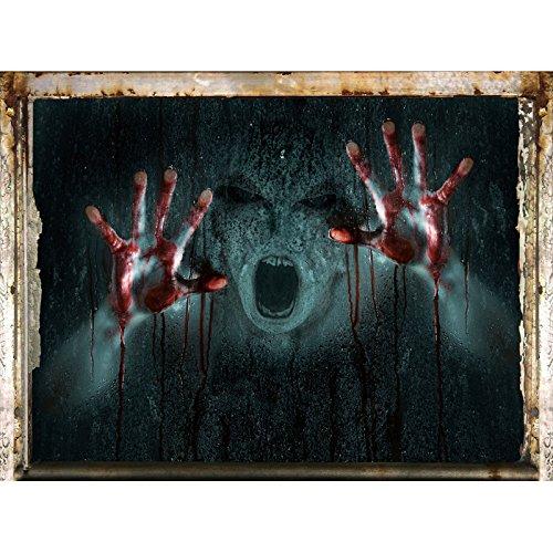JYSPORT Halloween 3D Wand Aufkleber Terror Wanddekor Vinyl Wandtattoo Kürbis Halloween Party Dekor (Halloween Wand)