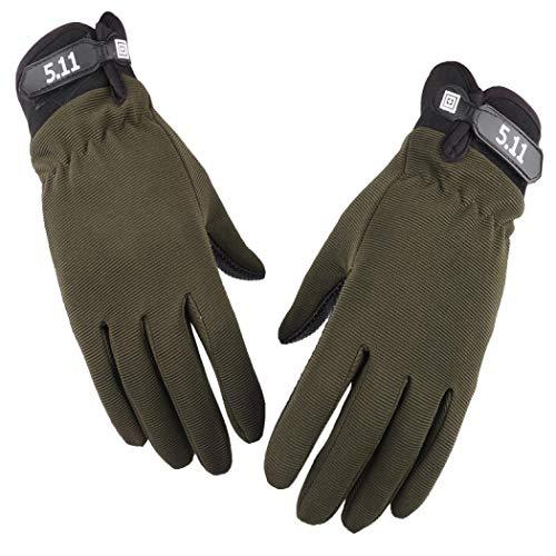 Sabarry Handschuhe, Nylonhandschuhe Größe Bauhandschuhe Arbeitshandschuhe (Army Green,L)