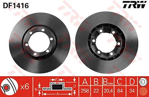 Preisvergleich Produktbild TRW df1416 Bremsscheibe Rotoren