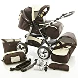 Chilly Kids iCaddy Kombikinderwagen 34 Braun & Beige