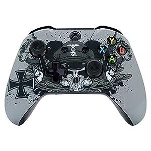 eXtremeRate Case für Xbox One S/X,Hülle Case Gehäuse Schutzhülle Cover Schale Faceplate Skin für Xbox One S&Xbox One X Controller(Zweite Weltkrieg)