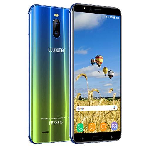 Cellulari Offerte 4G, 6.0'HD 16GB ROM 2GB RAM Batteria 4800 mAh, Fotocamera 8 MP, Face ID, Dual SIM, Smartphone Android 7.0 Smartphone Offerta Del Giorno DUODUOGO J6 plus