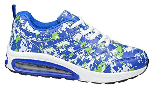 gibra , Chaussures de course pour homme Blanc/bleu/vert