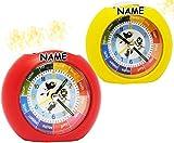 alles-meine.de GmbH Lernwecker / Kinderwecker -  mit Licht + -1 Minuten Schritten  - Anzeiger - Incl. Name - Alarm für Mädchen - für Kinder Wecker - Lernuhr Analog