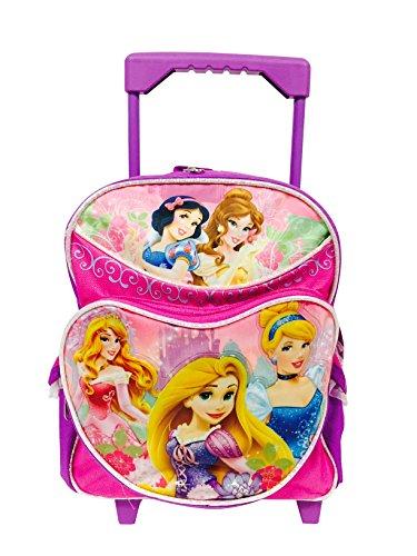 Prinzessin Combo–Kleinkinder Rolling Rucksack und Minnie Maus Federtasche mit Reißverschluss Set (Rolling Rucksack Combo)