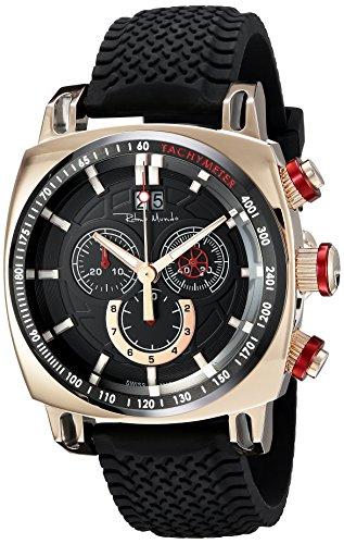 Ritmo Mundo Men's 2221/10 RG Red Racer Analog Display Swiss Quartz Black Watch