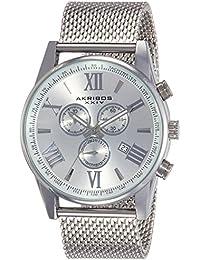 Akribos XXIV Analog Silver Dial Men's Watch-AK813SS