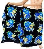 Sarong Strand Männer Badeanzug Blumen Schwimmen Pareo Wickel Coverups Badeanzug blau