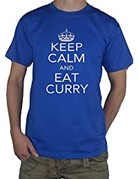 Keep Calm and Eat Curry T-Shirt - Indian Restaurant / Take Away Lover Top