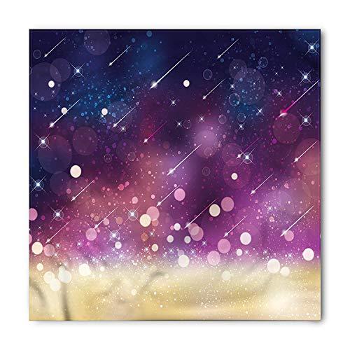 Space Bandana, Shooting Stars Scenery Celestial Galaxy Themed Cosmos Motion Image Art, Printed Unisex Bandana Head and Neck Tie Scarf Headband, 22 X 22 Inches, Navy Blue Plum Yellow,39.3 * 39.3inch