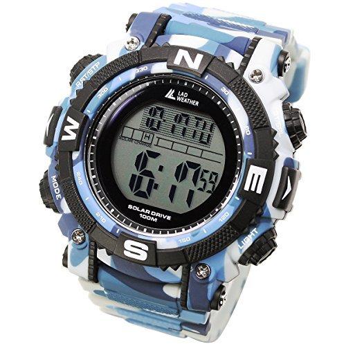 [Lad Weather] Potente Reloj Digital Solar de hombre de estilo militar deportivo con cronómetro