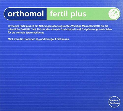 Orthomol fertil plus 30er Tabletten & Kapseln - Nahrungsergänzung für Männer - Fruchtbarkeit steigern bei Kinderwunsch - Dha 30 Kapseln