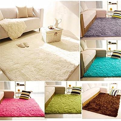 Ai.Moichien Multi size Anti-skid No Shed Living Room Soft Carpets Floor Mat Shaggy Area Rug Multi color