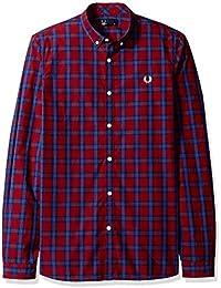 Fred Perry Men's Tartan Gingham Mix Shirt