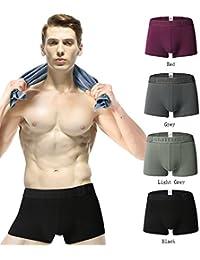 Gfirmament Boxer Briefs Mens Boxershorts Trunk Underwears Pack Stretch Underwear 4 Pack or 1 Pack Soft Microfiber