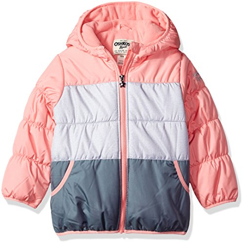 Osh Kosh Girls' Perfect Colorblocked Heavyweight Jacket Coat -