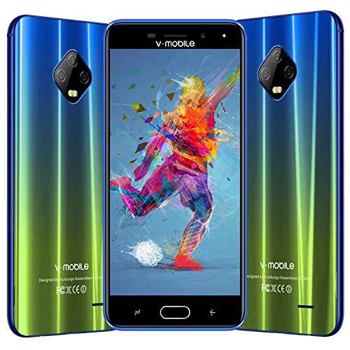 Moviles Libres Baratos 4G , V Mobile J7 5.5 Pulgadas 3GB RAM 32GB ROM , 5800mAh Bateria , 8MP 5MP Camara, 2 1 Ranura...
