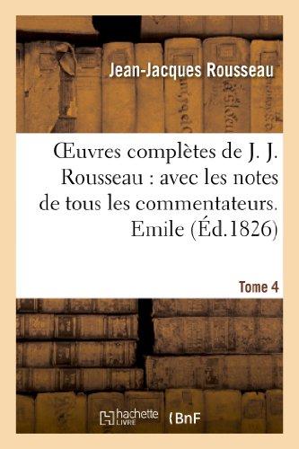 Oeuvres complètes de J. J. Rousseau. T. 4 Emile T2 par Jean-Jacques Rousseau