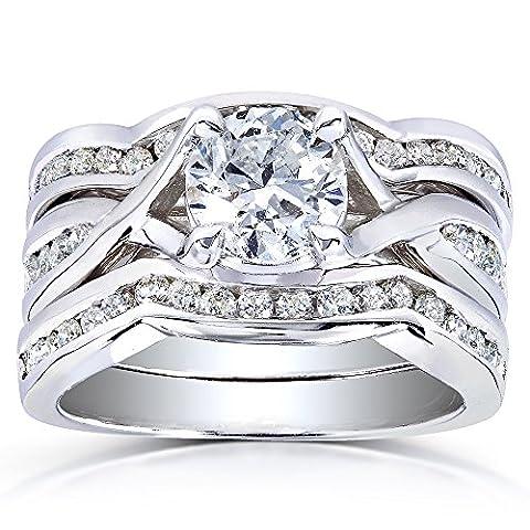 Tressé avec zircons ronds Diamant Mariage De 13/4carats (ctw) en