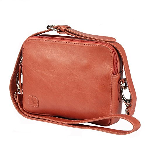 Walletsbags Sydney Crossbody Leather Ladies Bag-Pink (FREE LEATHER GENTS WALLET)  available at amazon for Rs.1799