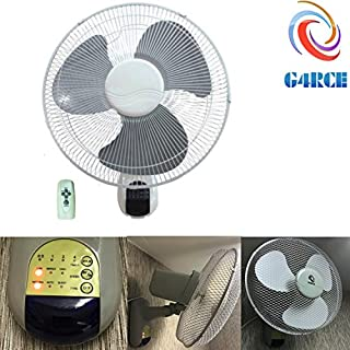 G4RCE Wall Mount Fan 3-Speed 16 in. Home Office Room Indoor Air Cooling Remote Control (Wall Fan White)