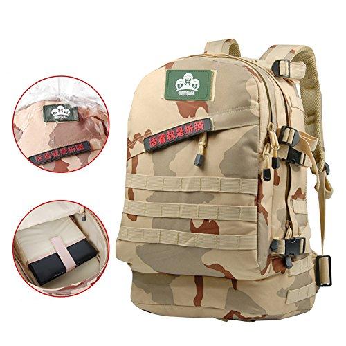 YAAGLE Outdoor Bergsteigen Taschen Oxford Rucksack Fahrradrucksack Armee militärisch Tarnung Schultertasche camouflage 2