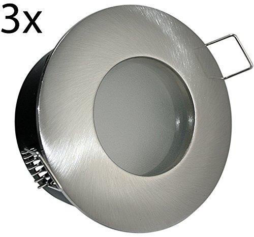 Farbe Spot (3er Set 12V 230V LED oder Halogen Bad Einbaustrahler Spot
