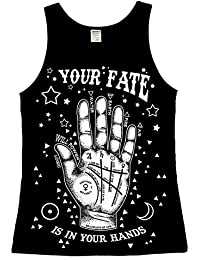 The Dead Generation Your Fate Ladies Vest Top - Gothic Occult palmistry - Alternative Women's Clothing by Luna Cult