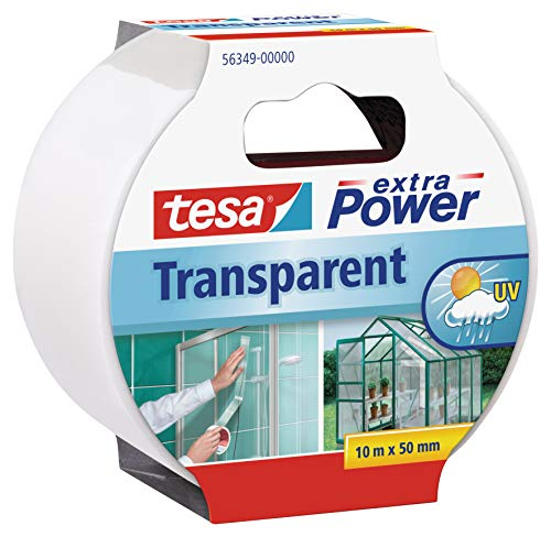 Tesa 56349-00000-03 Nastro Extra Power, 50 mm x 10 m, Trasparente