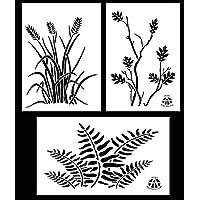 Ácido táctica® , 3 - 23 cm x 35 cm paquete iwea spraymaster pintura en aerosol - plantillas de vinilo (roble, Fern, alusivo Camo)
