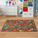 Kinder Spielteppich Baustelle Größe 140 x 200 cm