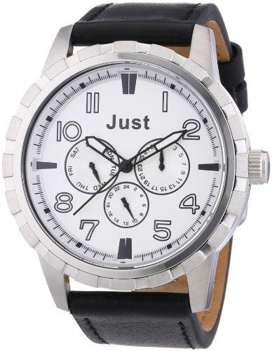Just Watches 48-S4997SL-BK - Orologio da polso uomo, pelle, colore: nero