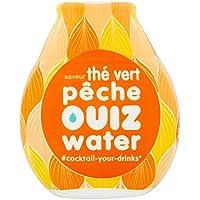 OUIZ WATER Aromatiseur d'Eau Thé Vert Pêche Flacon de 50 ml - Pack de 6