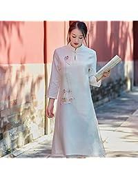 170478f09 HYW Vestido de Seda de Vestir Pintado a Mano de Gama Alta
