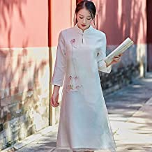 DEED Vestido de Seda de Vestir Pintado a Mano de Gama Alta,Segundo,Metro