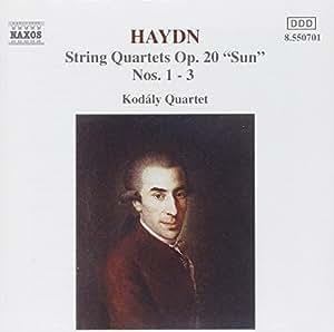 Haydn : Quatuors à cordes Op. 20, n° 1, 2 et 3