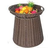 Cestino di stoccaggio a doppio strato di frutta e verdura