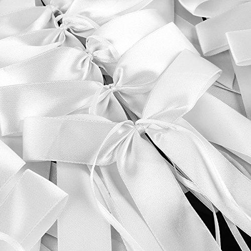 50 x Antennenschleifen Weiss Autoschmuck Autoschleifen Hochzeit Party