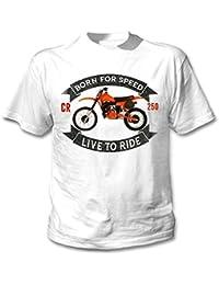 Teesandengines HONDA CR 250R Camiseta blanca para hombre de algodon