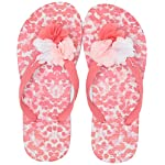 Joules Girls JNR Flip Flop, White Petals, 11 M US Little Kid