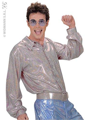 Unbekannt Aptafêtes-cs924742-Hemd Disco Hologramm-Silber-Gr. (Hologramm Kostüme)