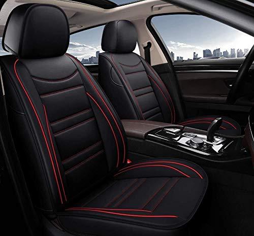 Yunchu PU-Leder Autositzbezug-Sets, for BMW F10 F11 F15 F16 F20 F25 F30 F34 E60 E70 E90 3. Januar 4 5 7 Serie GT X1 X3 X4 X5 X6 Auto sitzbezüge (Color : Black+Red) - Camry Für Auto-sitzbezug Einen