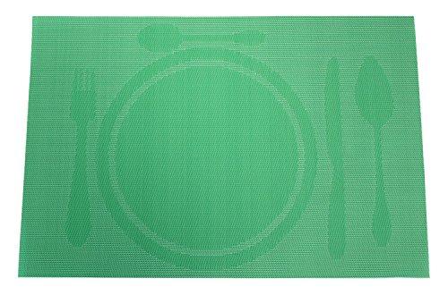 Haus und Deko Platzset Gedeckter Tisch abwaschbar Tischset ca. 30x45 cm Geflochten #1266 grün Mint
