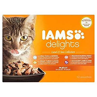 Iams Delights Wet Meat and Fish in Jelly for Cats by IAMS